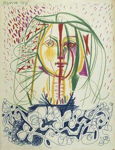 Pablo Picasso Portrait de Françoise 1, 1946