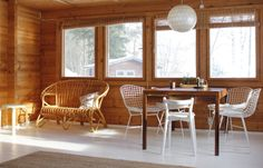 Minna Jones: in February ------------ helmikuussa Home Blogs, Back Home, Dining Chairs, Dining Room, Interior And Exterior, Cottage, Windows, Inspiration, February