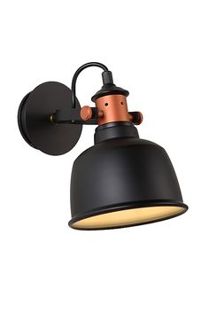 #walllamp #black #copper #industrial #modern #lucide #tjoll #interior #lighting #design #home #living selected by #cuuluu