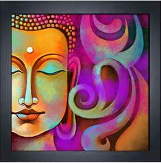 buddha acrylic painting on canvas Buddha Drawing, Buddha Painting, Buddha Kunst, Buddha Art, Diy Canvas Art, Acrylic Painting Canvas, Namaste, Buddha Canvas, Figurative Kunst