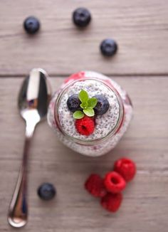 Vanilla Berry Chia Pudding | dairy free, gluten free, nightshade free, corn free, soy free, egg free.
