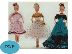 Vintage Barbie3 Dress Crochet Pattern PDF by GavryDollsPattern, $1.90
