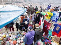 """La Paz, BoliviaPerched 13,150 feet above La Paz, the capital of Bolivia, El Alto's sprawling open-air market might be one of the highest in the world. This mecca for every kind of product possible has been called the """"capital of capitalism,"""" and even if you're not in the market for a used soccer ball or some cassette tapes from the 1980s, it's well worth the trip. It's open on Thursday and Sundays."""
