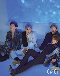 """""""MONSTA X Wonho, Jooheon, Kihyun and I.M for Céci (December issue) Full article: Céci"""""""