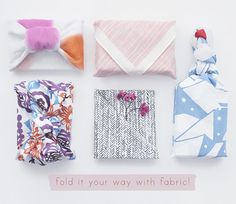 fabric wrapping cloths by 'once upon a fold'