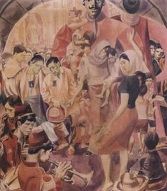 Higantes Festival, Botong Francisco The only feast allowed to be celebrated in Angono, Rizal during the colonial period. Filipino Art, Philippine Art, Social Realism, Filipiniana, Artists Like, Philippines, Tapas Bar, Fine Art, Pinoy