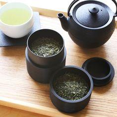 Tea Canister (Chazutu)/ TAWARA/ Black/ Karmi Series | Japan Design Store
