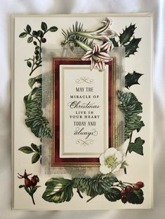 2019 Christmas card created using the Anna Griffin Christmas Botanical Card Topper set. Anna Griffin, Card Ideas, Christmas Cards, Create, Xmas Cards, Christmas Greetings, Christmas Letters, Merry Christmas Card