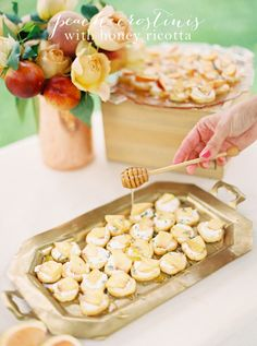 Delicious Peach Crostinis! Great for any summer occasion!