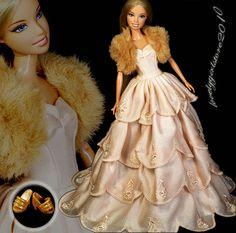 New Princess Dress Fashion Gown/ shawl for Barbie Doll #182 | eBay