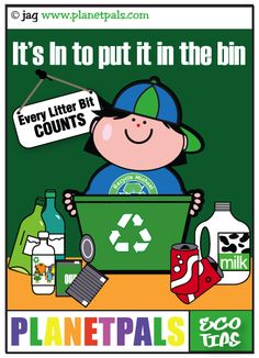 Learn about recycling with Recycle Michael :) @ planetpals.com