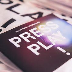 PRESS PLAY! #tocame #designconference #pressplay #tocame16 #munich #design #mcbw2016