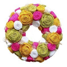 4th Of July Wreath, Burlap Wreath, Christmas Wreaths, Holiday Decor, Jute, Burlap Garland
