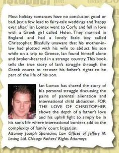 For the love of Christopher available on Amazon and on kindle