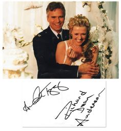 Alternate Reality wedding picture (signed by the stars)
