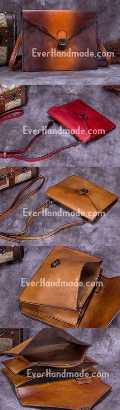 Genuine Leather Handbag Vintage Bag Shoulder Bag Crossbody Bag Purse Clutch For Women Vintage Bag, Vintage Handbags, Vintage Ladies, Leather Crossbody Bag, Leather Handbags, Leather Bag, Crossbody Bags, Clutches For Women, Leather Shoulder Bag