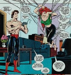 Peter & Mary Jane = true love and kinky married sex. Yay, '90s Spider-Man comics!