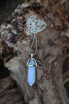 £5 Crystal Opalite Necklace by shiningstarjewellery on Etsy