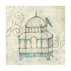 Bird Cage II Art Print by Avery Tillmon at Art.com