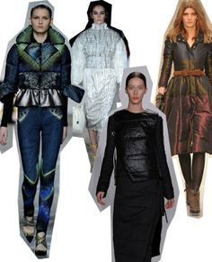 Puffer Jackets. London Fashion Week trends autumn/winter 2012