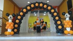 Mickey Mouse balloon arch