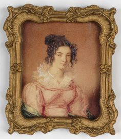 """Mouse over image to zoom  Have one to sell? Sell it yourself """"Young Lady"""", English portrait miniature, ca.1820"""