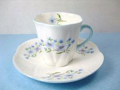 Vintage Shelley Tea Cup & Saucer Shelley Demitasse