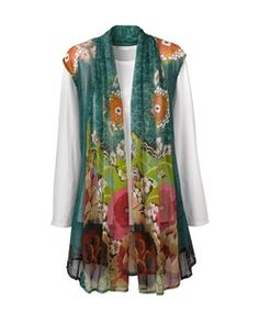 Floral sheer scarf from Coldwatercreek---lovely