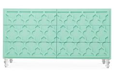 like the detail on this dresser but mint isn't my favorite color - Tangier Dresser, Mint