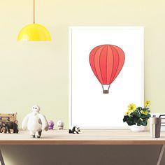 air balloon poster  instant download kids room by OrangeKiteLabs