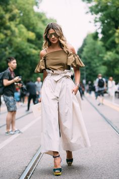 Milan Fashion Week SS17 Street Style: Day 2