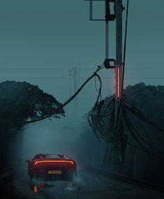 Signals by Jonathan Lucero : Cyberpunk Rpg Cyberpunk, Lourdes, Cinematic Photography, Futuristic Art, Retro Waves, Matte Painting, Environment Concept, Sci Fi Art, Fantasy Art