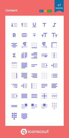 Content  Icon Pack - 47 Flat Icons Flat Icons, Png Icons, Icon Pack, Icon Font, Design Development, Bar Chart, Fonts, Packing, Graphics