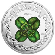Royal Canadian Mint New The Lucky Four Leaf Clover Pure Silver Coloured Coin + Celebration of Spring: Apple Blossoms Pure Silver Coloured Coin Mint Coins, Silver Coins, Canadian Coins, Coins For Sale, Effigy, Four Leaf Clover, Canadian Artists, Rare Coins, Coin Collecting