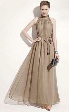 Solid Color Maxi Dress ==