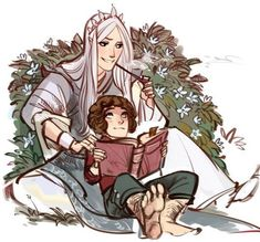 Olorin and Frodo I love this picture so much.