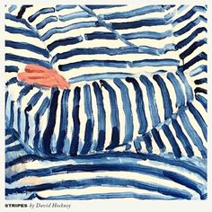 """Quote of the day 💭 - """"I just do art because I'm ugly and there's nothing else for me to do."""" ― Andy Warhol - Stripes by David Hockney David Hockney Paintings, Pop Art, Art And Illustration, Arte Pop, Art Museum, Art Inspo, Painting & Drawing, Illustrators, Art Drawings"""