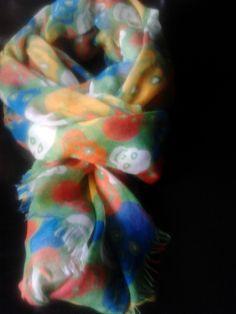pañuelo de calaveras fondo verde