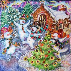 85 Best Magical Christmas Coloring Book Images On Pinterest In 2018