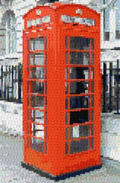 Cross Stitch   London Telephone Box xstitch Chart   Design