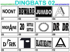 Have a go at the Dingbats...find the phrase....answers will be posted ...