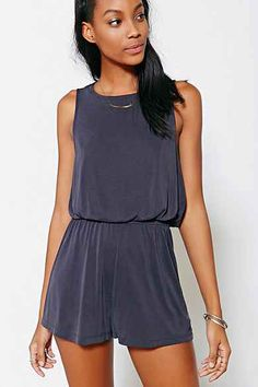 Silence + Noise Two Twisted Romper | Any Color | Size: XS or 0 | Urban Outfitters