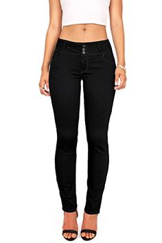 Wax Womens Juniors Body Flattering Mid Rise Skinny Jeans 7 Black * Read more  at the image link.