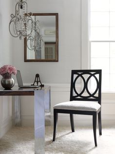 Carlyle Dining Chair in AF Spot On Grey #Thibaut