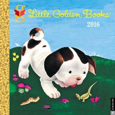 Little Golden Books 2016 Wall Calendar | $5.99 | Little Golden Books 2016 Wall Calendar features art from the series' most popular books, including The Poky Little Puppy, The Saggy Baggy Elephant, Tootle, Scuffy the Tugboat, The Shy Little Kitten, The Tawny Scrawny Lion, I Can Fly, The Little Red Caboose, The Little Red Hen, The FireEngine Book, Color Kittens, and The Fuzzy Duckling.