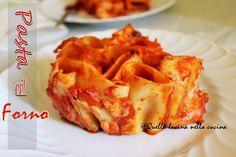 Torta di pasta al forno | Quella lucina nella cucina #tutorialpastaalforno  Recipe written in English and Italian language