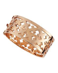 Rose Gold Crosses Cuff Bracelet #PlaySportsShop #freeshipping #sportclothes #thenewme #playsportshop #fitnessfashion