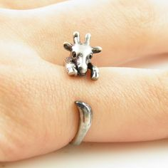 cute animal ring silver bronze Giraffe Wrap Ring rings fashon jewelry