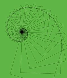 Growth of a Spiral   This illustrates how a logarithmic spiral forms by rotating a square as it grows.   © Kevin Kopchynski