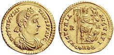 AV Solidus ND (409-10AD) Priscus Attalus 409-10AD Constantinople Mint